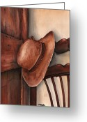 Amish Greeting Cards - Old Garden Hat Greeting Card by Angela Armano