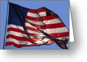 Flag Photo Greeting Cards - Old Glory Greeting Card by Carl Purcell