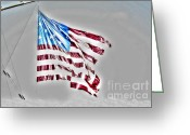 4th July Digital Art Greeting Cards - Old Glory Greeting Card by Dan Stone