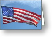 Flag Of The United States Greeting Cards - Old Glory Never Fades Greeting Card by Gary Baird