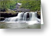 Glade Mill Greeting Cards - Old Grist Mill in Babcock State Park West Virginia Greeting Card by Brendan Reals