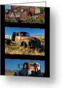 Classic Auto Greeting Cards - Old Guys Trio 4 Greeting Card by Idaho Scenic Images Linda Lantzy