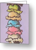 Caramel Greeting Cards - Old Habits Greeting Card by Sandy Tracey