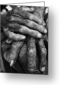 Stock Photography Greeting Cards - Old Hands 3 Greeting Card by Skip Nall
