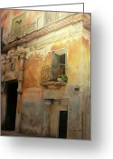 Cities Art Painting Greeting Cards - Old Havana Greeting Card by Tomas Castano