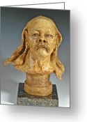 Male Sculpture Greeting Cards - Old Hippie Greeting Card by Eduardo Gomez