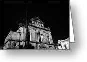 Town Hall Greeting Cards - old historic street light and Newry Town Hall  Greeting Card by Joe Fox