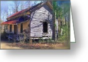 Abandoned Houses Greeting Cards - Old Home Place Greeting Card by Larry Bishop