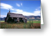 Landscape Greeting Cards Greeting Cards - Old House in Idaho Greeting Card by Kathy Yates