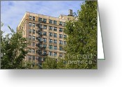 Metal Greeting Cards - Old iron fire escape Chicago IL Greeting Card by Christine Till