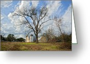 Jesuit Greeting Cards - Old Jesuit Barn Greeting Card by Bonnie Barry