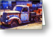 Trucks Greeting Cards - Old junk truck Greeting Card by Garry Gay