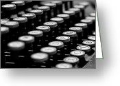 Typewriter Greeting Cards - Old Keyboard  Greeting Card by David Paul Murray