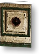 Knob Greeting Cards - Old Knob Abstract Greeting Card by Marsha Heiken