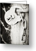 Old Lock Greeting Cards - Old Lock Greeting Card by Patrick M Lynch