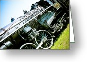 Engines Greeting Cards - Old Locomotive 01 Greeting Card by Michael Knight