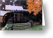 Split Rail Fence Greeting Cards - Old Mabry Mill Greeting Card by Carl Purcell