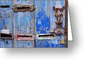 Mail Greeting Cards - Old Mailboxes Greeting Card by Carlos Caetano
