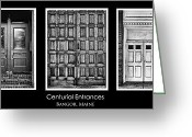 Old Doors Greeting Cards - Old Maine Doors Greeting Card by Chad Tracy