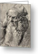Male Portraits Greeting Cards - Old Man, Art By Durer Greeting Card by Sheila Terry