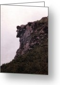 Nh Greeting Cards - Old Man of the Mountain Greeting Card by Wayne Toutaint