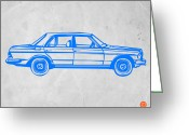 Old Paper Greeting Cards - Old Mercedes Benz Greeting Card by Irina  March