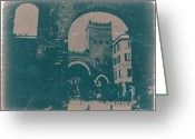 Old City Tower Greeting Cards - Old Milan Greeting Card by Irina  March