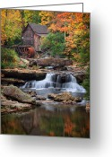 Glade Mill Greeting Cards - Old mill 4 Greeting Card by Emmanuel Panagiotakis