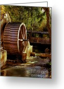 Pioneer Park Greeting Cards - Old Mill Park Wheel Greeting Card by Robert Bales