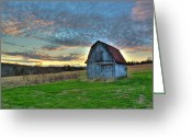 Old Mines Greeting Cards - Old Mines Barn Greeting Card by William Fields
