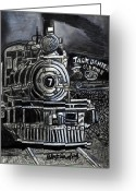 Jack Daniels Greeting Cards - Old Number Seven Greeting Card by Bob Crawford