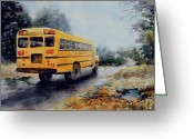 School Days Greeting Cards - Old Number Three Greeting Card by Virginia Potter