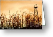 Offshore Greeting Cards - Old Oil Tower Greeting Card by Antoni Halim
