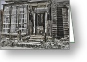 It Is As It Was Greeting Cards - Old Old house Greeting Card by Tina Balison