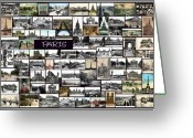Old Postcards Greeting Cards - Old Paris Collage Greeting Card by Janos Kovac