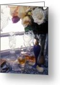 Jewelry Greeting Cards - Old Perfume Bottles Greeting Card by Garry Gay