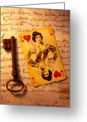 Unlock Greeting Cards - Old playing and key Greeting Card by Garry Gay