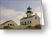 Coastline Greeting Cards - Old Point Loma Lighthouse - Cabrillo National Monument San Diego CA Greeting Card by Christine Till