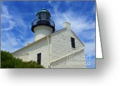 Point Loma Greeting Cards - Old Point Loma Lighthouse 2 Greeting Card by Methune Hively