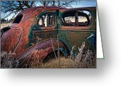 Dilapidated Greeting Cards - Old Pontiac Greeting Card by Inge Johnsson