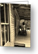 Rocking Chairs Greeting Cards - Old porch Greeting Card by Robert Ulmer