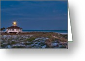 Florida House Greeting Cards - Old Port Boca Grande Lighthouse Greeting Card by Rich Leighton
