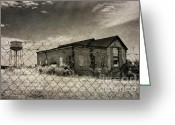 Complex Greeting Cards - Old Prison Outbuilding Greeting Card by Susan Isakson