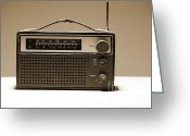 Broadcast Antenna Greeting Cards - Old Radio Set Greeting Card by Igor Kislev