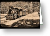 Coal Burner Greeting Cards - Old Rail Steamer Greeting Card by Garry Staranchuk