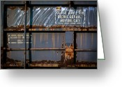 Boxcar Greeting Cards - Old Railroad Boxcar  Greeting Card by Bob Orsillo