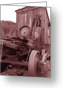 Time Framed Prints Photo Greeting Cards - Old Railroad Car Greeting Card by Kathy Yates