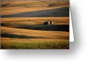 Alberta Landscape Greeting Cards - Old ranch buildings in Alberta Greeting Card by Mark Duffy