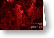 Colors Of Autumn Greeting Cards - Old Red Greeting Card by Marjorie Imbeau