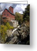  Originals Greeting Cards - Old Red Mill Jericho Vermont Greeting Card by Paul Cannon